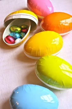 Fill paper Easter Eggs from IKEA as a low-key alternative to baskets or maybe party favors #easter