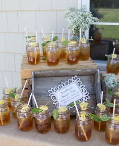 rustic bridal shower drink / http://www.himisspuff.com/creative-rustic-bridal-shower-ideas/7/