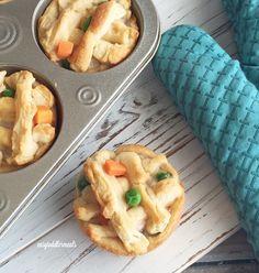 4 ingredient Mini Turkey Pot Pies