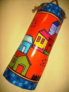 Arteira: Pintura em Telha Diy And Crafts, Crafts For Kids, Arts And Crafts, Tiki Mask, Bamboo Art, Native American Pottery, Paper Magic, Clay Tiles, Bottle Painting