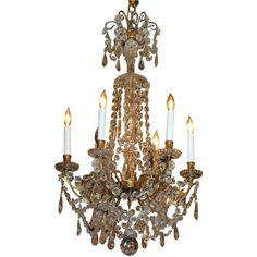 Moss Antiques - Antique French Chandelier, Parisian Design - 1stdibs found on Polyvore