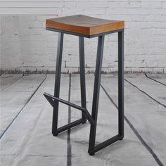 ECDAILY Continental retro custom bar chairs bar chairs wood bar stools American tall wrought iron chairs leisure chairs FREE S