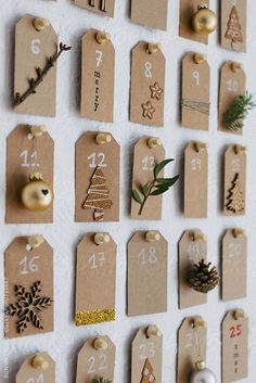 Diy Christmas advent calendar. by BONNINSTUDIO