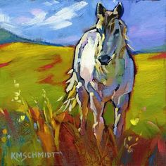 Just Landscape Animal Floral Garden Still Life Paintings by Louisiana Artist Karen Mathison Schmidt: Free Indeedwild impressionist white horse painting...