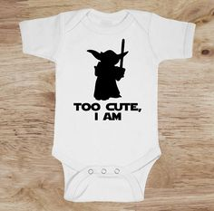 Star Wars Baby Bodysuit   Our designs are made with quality commercial grade materials and pressed with a professional commercial heat press for long lasting wear. Ordering made easy.  ➜1. Chose your your desired size and quantity from the drop down checkout menus.  ➜2. Add to cart  ➜3. Make your payment, either by paypal, credit or debit card.  ➜4. Submit your order!  For personalized orders that include an option for the childs name as part of the design, please type the childs name in the…