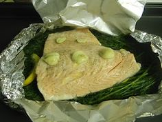 Dill steamed salmon