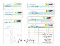 fitness tracker pdf printable creative life designs