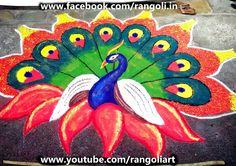 Diwali Rangoli , Kolam , Designs Images: Peacock Rangoli Designs 2015