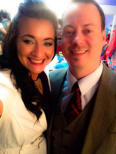 Heather and Sean ... backstage ... Dirty Rotten Scoundrels, 2015