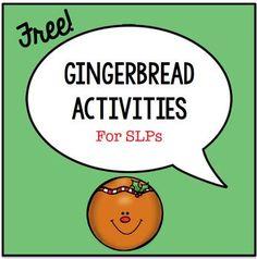 Gingerbread Activities for SLPs Speech Language Therapy, Speech Therapy Activities, Language Activities, Speech And Language, Speech Pathology, Gingerbread Man Activities, Gingerbread Men, Therapy Ideas, Classroom Themes