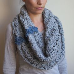 PDF crochet PATTERN infinity loop cirlce cowl ,neckwarmer, scarf   - chunky oversized - DIY tutorial - Quick and easy gift