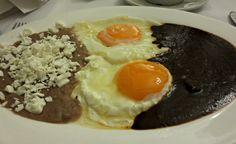 Mexican Food (mole, beans and eggs) Cafe Tacuba Mexico City, Mexico April, 2015 ESLVentures.com