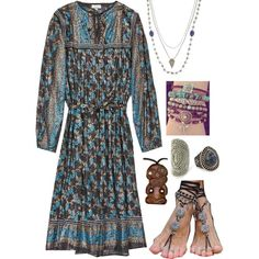Bohemian by mara-nokomis on Polyvore featuring Free People, Mata Traders, Forever 21 and Pamela Love