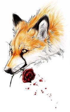 Fox tattoo design.