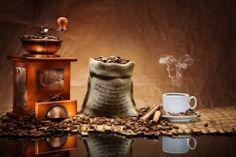Обои Кофе Чашка Зерна Еда