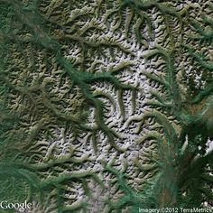 Amazing Google Maps imagery on Stratocam.com  Kamchatka