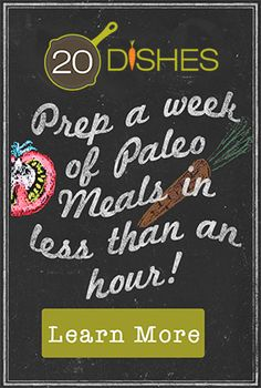 An Introduction: 20 Dishes | Oh Snap! Let's Eat! - Prep a week of Paleo Meals in Less Than an Hour!