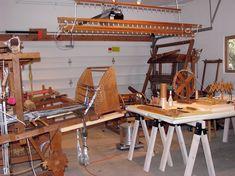 Weaving studio, Polly Barton, Santa Fe, New Mexico.