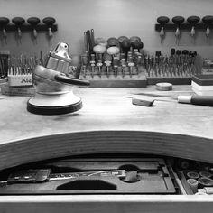 Bench eye view #settingtools #gemstonesetting #diamondsetting #bench #workbench #jeweller