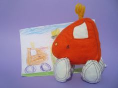 Make your childs drawing into a softie!