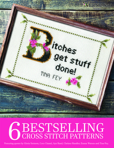 6 Bestselling Cross Stitch Patterns