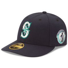 low priced 102ef d2364 Men s Seattle Mariners Ken Griffey Jr. New Era Navy Number Retirement Logo  Authentic Collection On-Field Low Profile 59FIFTY Fitted Hat