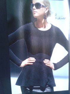 Love the shape of the sweater @ Magdalene Catalogue