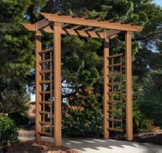 The Carolina Wood Grain Wedding Arbor