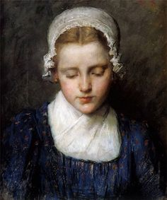 Portrait of a Girl, Therese Schwartze. Dutch (1851 - 1918)