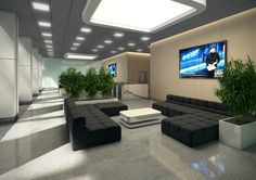 Lobby  projekt dla Oxford Tower Warszawa / Lobby; Project for Oxford Tower Warsaw