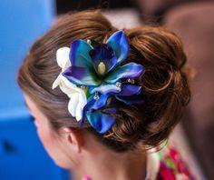 TROPICAL SILK Hair clip Wedding headpiece hair by MalamaPua