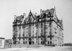 The Dakota, one of the earliest apartment buildings on Central Park West, Manhattan, ca. 1890.    Source: Library of Congress