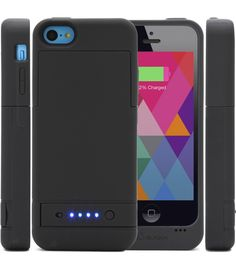 PowerGlider [MFI APPROVED] Rechargeable External Battery Case [iOS 7 Compatible] for iPhone 5C - USB