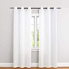 jinchan White Curtains for Bedroom 84 inches Length Waffle-Weave Textured Curtain Panels for Living Room Window Treatment Set Kitchen Curtains 2 Panels Curtains And Draperies, Privacy Curtains, Green Curtains, Home Curtains, Curtains Living, Living Room Windows, Velvet Curtains, Kitchen Curtains, Panel Curtains