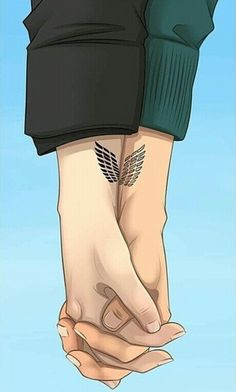 Attack on Titan (OKAY SO THIS IS REALLY FREAKING ADORABLE & I THINK IT WOULD BE A LEGIT COUPLES TATTOO)