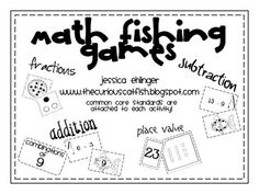 Addition, subtraction, place value, and fraction fishing game.  Lots of other math fishing games available too!