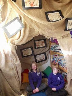 cave art display Class Displays, School Displays, Stone Age Ks2, Role Play Areas, Girl Scout Camping, Buried Treasure, Book Corners, New Classroom, Iron Age