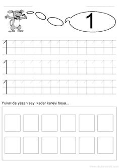 Tracing Worksheets, Preschool Worksheets, Printable Worksheets, Preschool Activities, Learning To Write, Learning Arabic, Funny Numbers, Learn Arabic Alphabet, Numbers Preschool