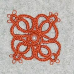 single motif from Nellie Hall Youngburg's 40 Original Designs 1921 pattern 38 yoke with new model tatted by Judith Anderson