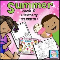 End of the Year Activities FREE Kindergarten Summer Math & Literacy Pack End Of Year Activities, Spring Activities, Learning Activities, Educational Activities, Kids Learning, Math Literacy, Kindergarten Math, Teaching Math, Primary Teaching