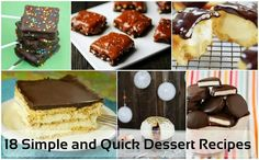 18 simple and quick dessert recipes