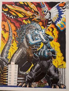 All Godzilla Monsters, Godzilla Comics, Godzilla Vs, King Kong Vs Godzilla, Monster Board, Jojo's Bizarre Adventure Anime, Ghost Busters, Batman Vs Superman, Jojo Bizarre