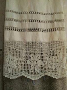 Toalla de lino con vainicas 2