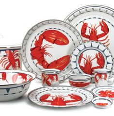 From Barnacleblues. I want to do a red and blue lobster and crab kitchen theme