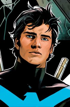 Nightwing by Travis Moore. So beautiful. : NightwingYou can find Nightwing and more on our website.Nightwing by Travis Moore. So beautiful. Damian Wayne, Nightwing Wallpaper, Batman Wallpaper, Wallpaper Art, Nightwing And Starfire, Starfire Comics, Richard Grayson, Batman Comic Art, Gotham Batman