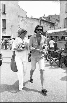 Romy Schneider et Daniel Biasini Saint Tropez, Magda Schneider, Sarah Biasini, Divas, Slim Aarons, Vintage Italy, Alain Delon, Sissi, Black And White