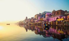 """Varanasi """"The city of temples"""" is one of the oldest city in the world. Varanasi is also known as the """"Religious capital of India. Rishikesh, World's Most Beautiful, Beautiful Places In The World, Beautiful Sunrise, Amazing Places, Wonderful Places, Varanasi, Holiday Destinations, Travel Destinations"""