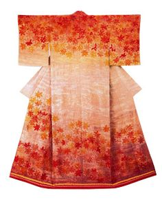 "Tsujigahana kimono • Itchiku Kubota. From the exhibition ""Kimono as Art: The Landscapes of Itchiku Kubota."""