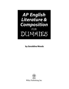 AP english literature composition for dummies by Renee Ariesen via slideshare High School Literature, World Literature, American Literature, English Literature, Teaching Schools, Teaching Writing, Teaching English, Teaching Ideas, Ap English