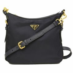 5ac48b3f08c4 Prada Navy Blue Tessuto Saffian Leather Crossbody Messenger Bag BT0706  Leather Material, Crossbody Messenger Bag